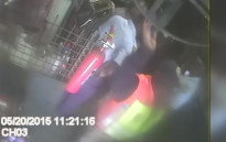 A case of assault is being investigated against the Johannesburg Metro Police Department after two officers were caught on camera beating a man at a Newlands scrap dealer. Picture: Supplied