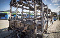FILE:Buses that were torched stand at the depot in George. Picture: Thomas Holder/EWN.