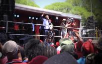 FILE: EFF leader Julius Malema addresses supporters. Picture: Kgothatso Mogale/EWN