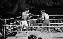 This file photo taken on October 30, 1974 shows Former world heavyweight champion Muhammad Ali (L) and titleholder US George Foreman (R) fighting on 30 October, 1974 in Kinshasa, Zaire during their world heavyweight championship match. Picture: AFP.