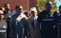MEC Paul Mashatile, Former President Kgalema Motlanthe, Advocate George Bizos and Gauteng Premier David Makhura at the Human Rights Dau Celebration on 21 March 2016. Picture: Masego Rahlaga/EWN