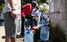 Cape Town residents collect 25 litres of water at the Newlands springs in Cape Town. Picture: Bertram Malgas/EWN