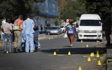Four people have been killed and several others injured in the Brakpan CBD following a shooting incident on 23 May 2018. Picture: Sethembiso Zulu/EWN