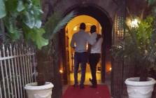 Eyewitness News journalistsClement Manyathela & Victor Magwidze present themselves as a gay couple at the entrance of The Lake Restaurant in Brakpan. Picture: Louise McAuliffe/EWN.