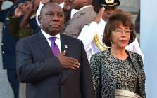 President Cyril Ramaphosa and his wife Dr Tshepo Motsepe at the opening of Parliament on 16 February 2018. Picture: @PresidencyZA/Twitter