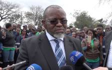 Mineral Resources Minister Gwede Mantashe at the Palabora Mining Company in Phalaborwa, Limpopo. Picture: Louise McAuliffe /EWN