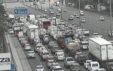 A screengrab of Johannesburg traffic along the N1 South before the Buccleuch I/C following an accident. Picture: EWN Traffic