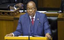 FILE: President Jacob Zuma answers questions during the last presidential answer session for the year in Parliament on 2 November 2017. Picture: AFP