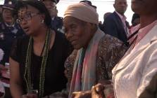 Ray Phiri's mother speaks at his funeral at the Mbombela Stadium. Picture: Louise McAuliffe/EWN