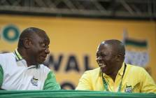 New ANC President Cyril Ramaphosa with his new deputy David Mabuza on 18 December 2017. Picture: Ihsaan Haffejee/EWN