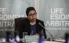 Former Gauteng Health MEC Qedani Mahlangu testifies at the Life Esidimeni hearing on 22 January 2018 in Parktown. Picture: AFP.