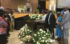The funeral service of Joe Mafela on 29 March 2017. Picture: Kgothatso Mogale/EWN.