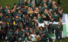 The Springboks celebrate their 2007 Rugby World Cup final win. Picture: Supplied