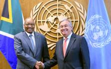 President Jacob Zuma holds bilateral talks with the United Nations Secretary General Anto'nio Guterres on the sidelines of the 72nd Session of the United Nations General Assembly (UNGA72), scheduled to take place from the 19-25 September 2017. Picture: GCIS