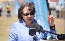 Cape Town Mayor Patricia de Lille unveiled one of 200 water distribution stations to be set up across the city. Picture: Bertram Malgas/EWN