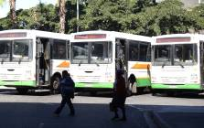 Golden Arrow buses parked at the Cape Town bus terminal as drivers strike for better wages. Pictures: Bertram Malgas/EWN