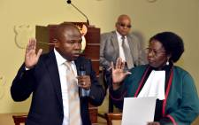 Des van Rooyen being sworn in as Finance Minister on 10 December 2015. Picture: GCIS.