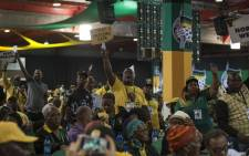 Disgruntled delegates raise their hands as they attempt to address national chairperson Baleka Mbete at the ANC's national conference on 17 December 2017. Picture: Ihsaan Haffejee/EWN
