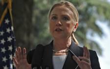 US Secretary of State, Hillary Clinton. Picture: Regan Thaw/EWN
