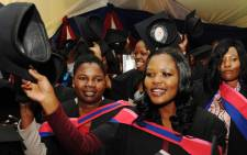 Graduates celebrate at a graduation ceremony at the University of Venda on Friday, 17 May 2013. Deputy President and chancellor Kgalema Motlanthe attended the ceremony.Picture: GCIS/SAPA