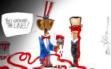 Assad crosses the line...