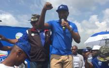 DA leader Mmusi Maimane leads a march against the VAT increase in Soshanguve. Picture: Twitter @Our_DA.