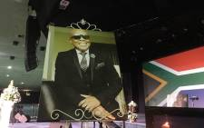 A portrait of the late Robbie Malinga at his funeral service at the Rhema Bible Church, Johannesburg on 2 January, 2017. Picture: Mia Lindeque/EWN