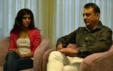 Nishma and Vinod Hindocha speak exclusively to EWN on 31 August 2012. Picture: Aletta Gardner/EWN