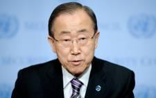 United Nations Secretary-General Ban Ki-moon. Picture: EPA/Justin Lane.