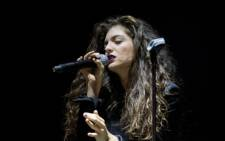 FILE: Singer-songwriter Lorde performs in New York. Picture: AFP