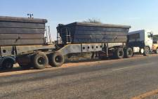 Authorities say four excavators and one heavy load truck have been confiscated, along with a significant amount of unprocessed chrome. Picture: @SAPoliceService