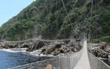 FILE: Storms River suspension bridge at Tsitsikamma National Park. Picture: Facebook.