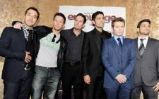 The cast of cult TV series Entourage. Picture: AFP