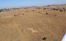 Crop circles in the outskirts of Johannesburg? Picture: Wynand Kemp/iWitness