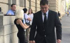 Jason Rohde enters the courthouse ahead of proceedings on 21 February 2018. Picture:Shamiela Fisher/EWN