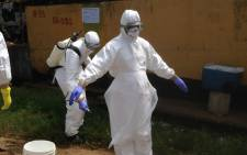 Volunteer medics preparing to start their work on the Ebola outbreak in Sierra Leone. Picture: The WHO official Facebook page.