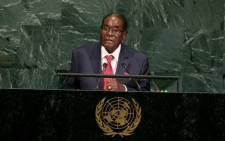 Zimbabwe's President Robert Mugabe addresses the UN General Assembly at the United Nations on 21 September 2017 in New York. Picture: AFP.