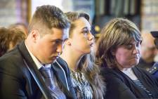 FILE: Surviving murdered Warrant Officer Holz is his daughter Michaela, his son Burger, and his wife Rene. Picture: Thomas Holder/EWN