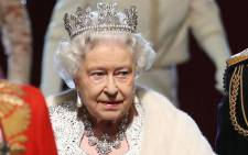FILE: Queen Elizabeth II at the Palace of Westminster in London. Picture: AFP.