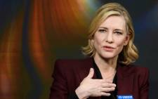 Australian actress Cate Blanchett speaks during the World Economic Forum (WEF) 2018 annual meeting, on 23 January 2018. Picture: AFP