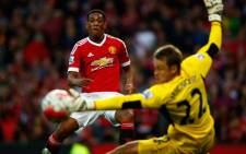 Manchester United new teenage signing, Anthony Martial put the ball past Liverpool goalkeeper, scoring on his debut in the 3-1 victory on 12 September 2015. Picture: Manchester United/Facebook.