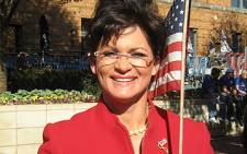 Sarah Palin lookalike attends a Republican rally. Picture: Mandy Wiener/Eyewitness News