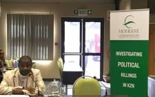 Reverend Sonto Thusi from the Umzinyathi Christian Council makes representations at the Moerane Commission of Inquiry on political killings in KZN. Picture: Ziyanda Ngcobo/EWN