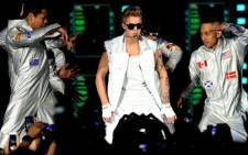 Canadian pop singer Justin Bieber performing in Cape Town in May 2013. Picture: Sapa.
