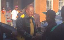 Deputy President Cyril Ramaphosa campaigns in Tshwane in the hope of winning the hearts and minds of voters. Picture: Clement Manyathela/ EWN.
