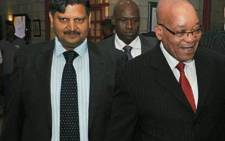 President Jacob Zuma and Atul Gupta. Picture: GCIS