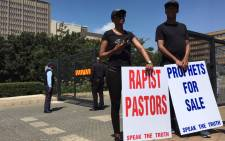An organisation called Speak the Truth is marching in Johannesburg on 14 March 2018 against what they call false prophets. Picture: Ihsaan Haffejee/EWN
