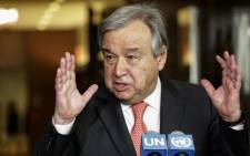 FILE: UN Secretary General Antonio Guterres. Picture: AFP