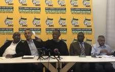 ANC stalwarts briefing about the consultative conference next week. Picture: Clement Manyathela/EWN