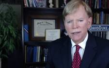 A screengrab of David Duke, a former leader of the white supremacist Ku Klux Klan. Picture: YouTube.